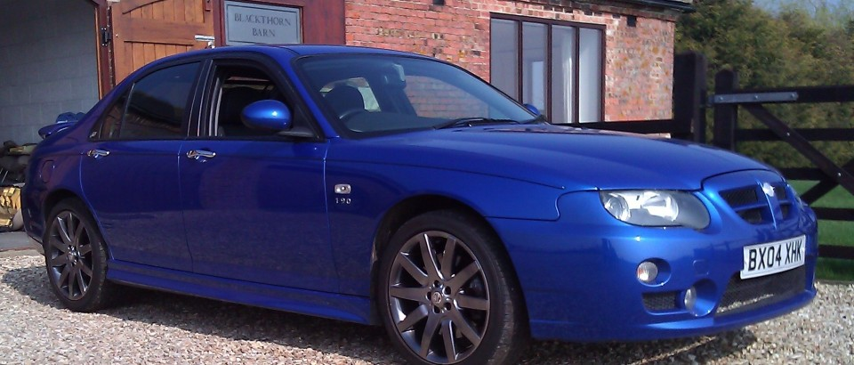 2004 MG ZT 190 in Trophy Blue