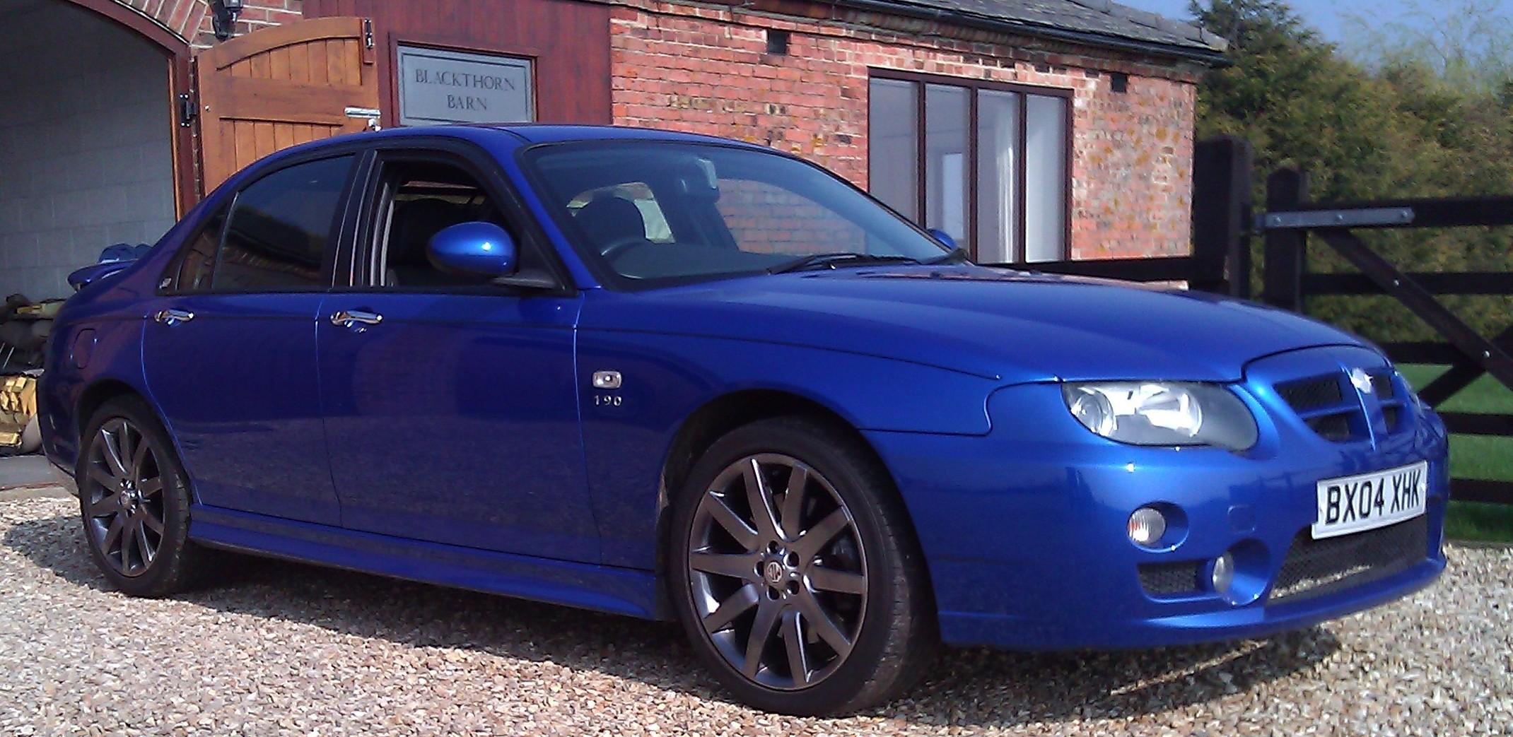2004 MG ZT 190 in Trophy Blue